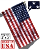 2' x 3' American Flag (Pole Sleeve) - SolarMax Outdoor Nylon