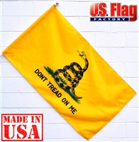 2.5x4 Gadsden Flag (Sleeved) Don't tread on me