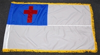 3' x 5' ChristianFlag - Nylon - Pole Sleeve and Fringe