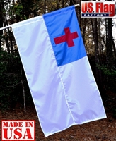3' x 5' Christian Flag - Nylon - Pole Sleeve