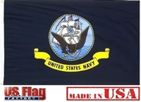 3'x5' US Navy Flag - Outdoor SolarMax Nylon - Made in U.S.A.
