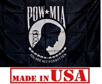 3' x 5' POW-MIA Flag - Nylon - Single Faced