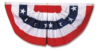"18"" x 36"" Fan with Appliqued Stars and Sewn Stripes"