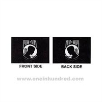 4'x6'  POW MIA Double Faced Herculite - Imported