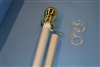 "6' x 1"" Silver Heavy Duty Spinning Pole with Gold Ball"