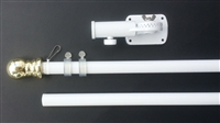 "6' x 1"" White Kit -  Spinning Pole, 13 position bracket, Boxed"