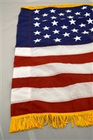 3' x 5'  US Flag - Nylon - Pole Sleeve and Fringe