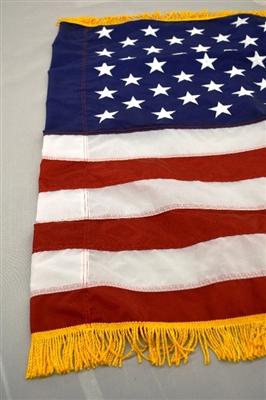 4 X 6 Us Flag Nylon Pole Sleeve And Fringe