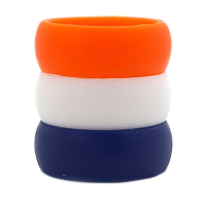 AKTYVUS® Men's Auburn Silicone Wedding Band Combo Pack