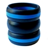 AKTYVUS® Men's Blue Line  Silicone Wedding Band Combo Pack
