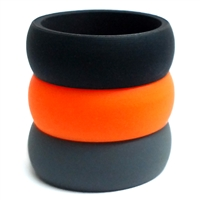 AKTYVUS® Men's Orange  Silicone Wedding Band Combo Pack