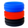 AKTYVUS® Men's Red/Blue Groove Silicone Wedding Band Combo Pack