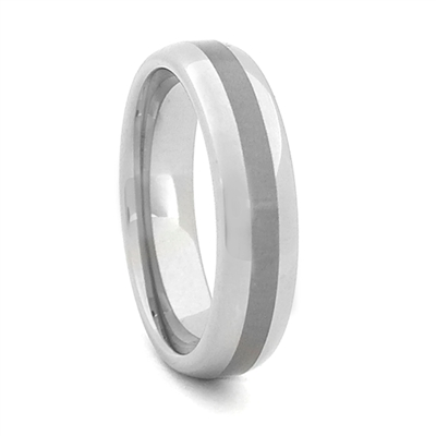 "STEEL REVOLTâ""¢  Satin High Polish Finish Wedding Band"