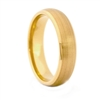 "STEEL REVOLTâ""¢ 6mm Gold Plated Tungsten Carbide Wedding Band"