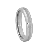 "STEEL REVOLTâ""¢ Satin High Polish Finish Combo 4mm Tungsten Band"