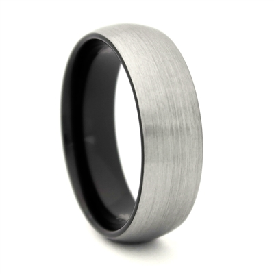 "STEEL REVOLTâ""¢  Wedding Band in satin finish"