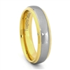 "STEEL REVOLTâ""¢ Comfort Fit 6mm High Polish Two Tone Tungsten Carbide Band"