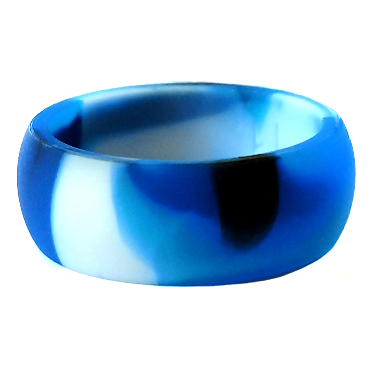 Blue Camouflage Men S Silicone Wedding Ring By Aktyvus