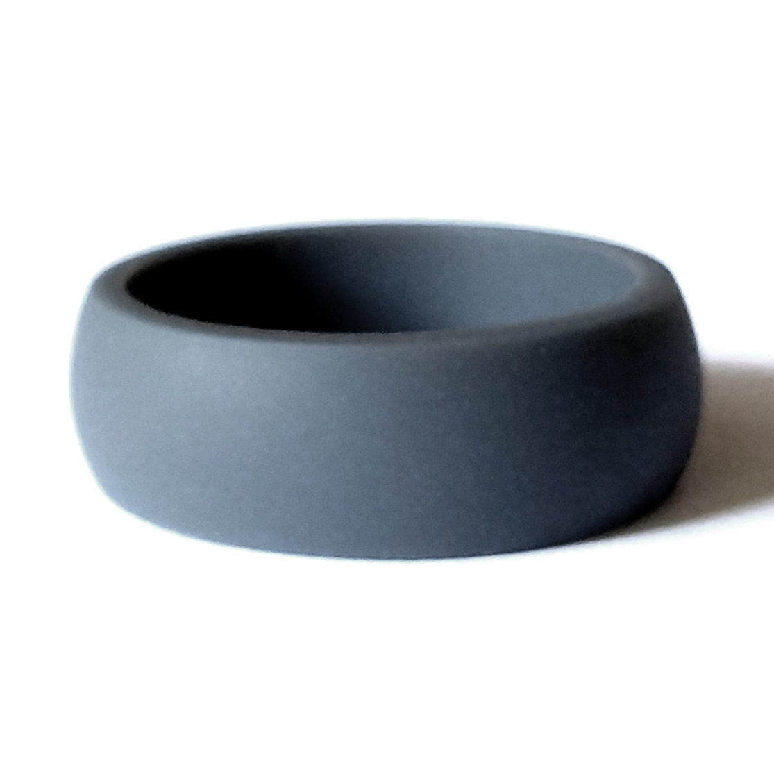 Matte Grey Men S Silicone Wedding Ring By Aktyvus