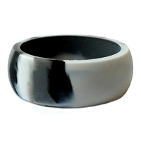 "AKTYVUSâ""¢ Smoke Grey Camoouflage Men's Silicone Wedding Band"