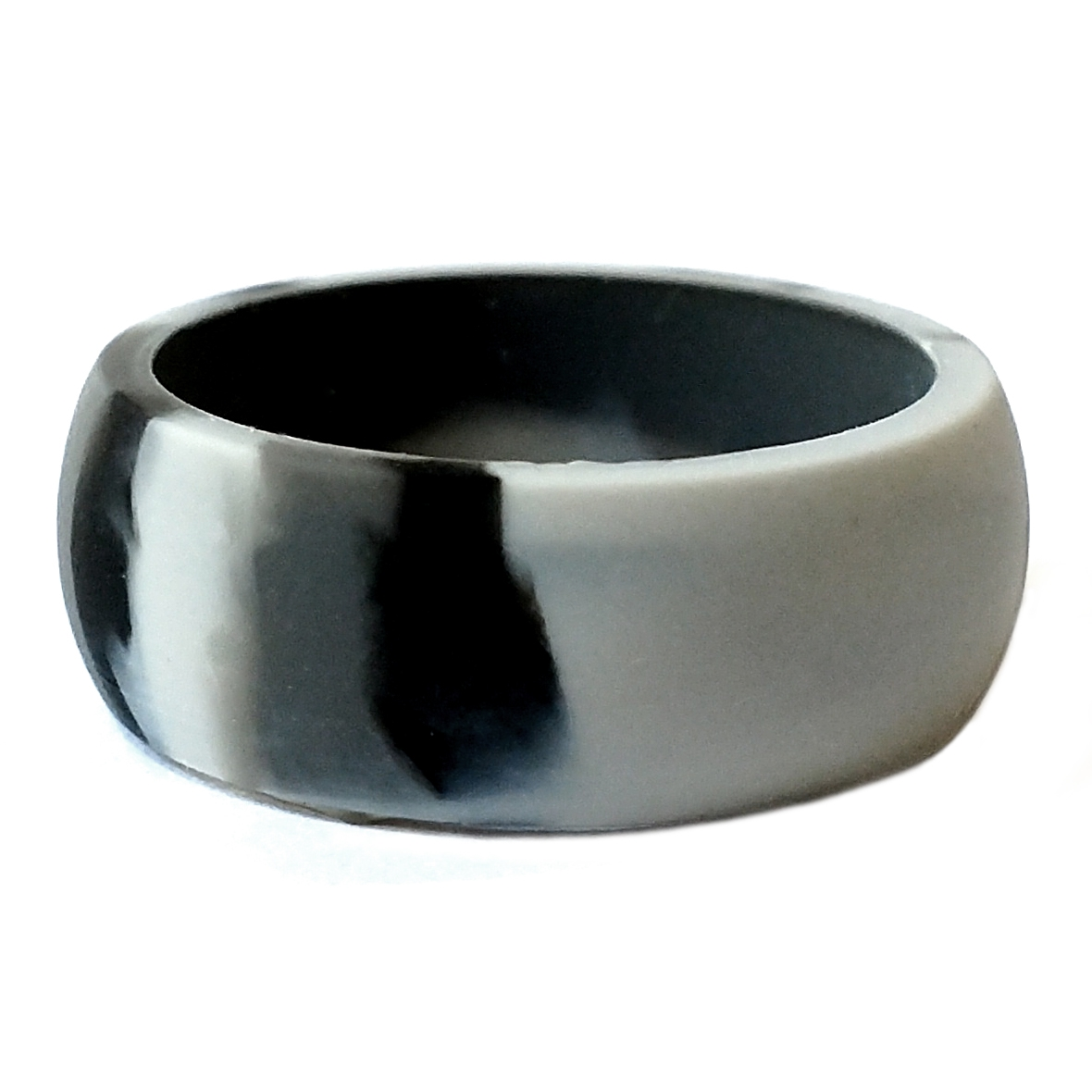 Smoke Grey Camouflage Men S Silicone Wedding Ring By Aktyvus