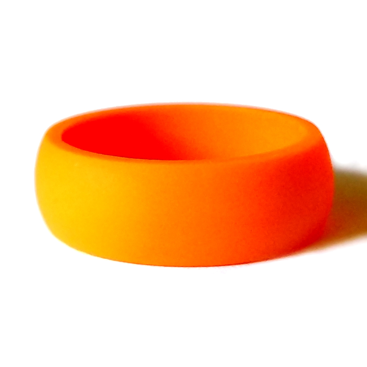 Silicone Wedding Ring.Men S Orange Silicone Ring