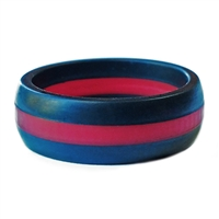 "AKTYVUSâ""¢ Red Line Men's Silicone Wedding Band"
