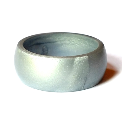 "AKTYVUSâ""¢ Silver Men's Silicone Wedding Band"