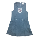 GIRLS YOUTH NAVY PLEATED JUMPER