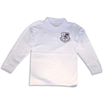 UNISEX ADULT LONG SLEEVE WHITE POLO