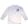 UNISEX YOUTH LONG SLEEVE WHITE POLO