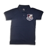 UNISEX YOUTH SHORT SLEEVE NAVY POLO