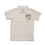 UNISEX YOUTH SHORT SLEEVE WHITE POLO