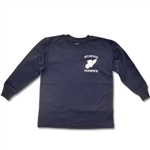 UNISEX ADULT LONG SLEEVE NAVY T-SHIRT