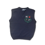 UNISEX YOUTH NAVY V-NECK VEST