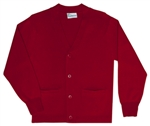 UNISEX ADULT RED CARDIGAN SWEATER