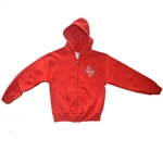 UNISEX ADULT RED FULL ZIP HOODIE