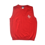 UNISEX ADULT RED V-NECK VEST