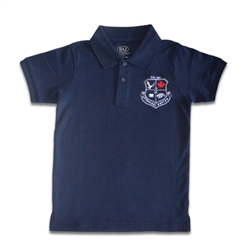 UNISEX ADULT SHORT SLEEVE NAVY POLO