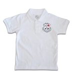 UNISEX ADULT SHORT SLEEVE WHITE POLO