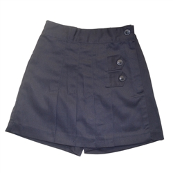 GIRLS SKORT NAVY FRONT PLEATS