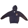UNISEX YOUTH NAVY FULL ZIP HOODIE