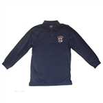 UNISEX ADULT LONG SLEEVE NAVY POLO