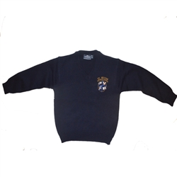 UNISEX YOUTH NAVY V-NECK PULLOVER