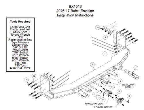 blue ox tow bar custom baseplate bx1518 buick rainier must have rh rvcampchamp com Blue Ox Tow Bar Wiring Blue Ox Tow Systems