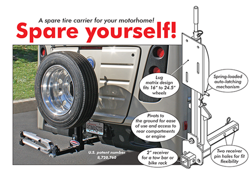 Roadmaster Spare Tire Carrier for Your Motorhome w/ 2