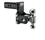 B&W Hitches TS30037B Black Powder Coated TOW & STOW 8IN MODEL 5IN DROP 5.5IN RISE