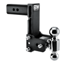 B&W Hitches TS30040B Black Powder Coated TOW & STOW 7.5IN DROP 7IN RISE