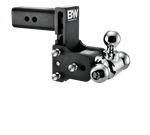B&W Hitches TS30048B Black Powder Coated TOW & STOW 8IN MODEL 5IN DROP 5.5IN RISE