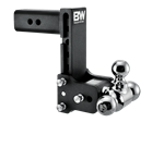 B&W Hitches TS30049B Black Powder Coated TOW & STOW 10IN MODEL 5IN DROP 5.5IN RISE